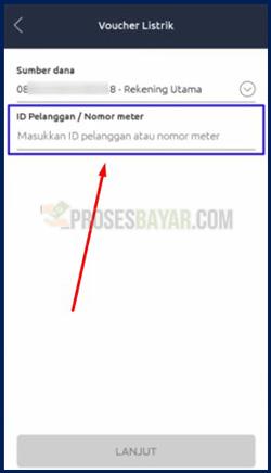 4 Masukan Nomor Meter atau ID Pelanggan