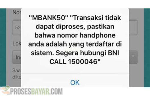Apa Itu Error MBANK50 BNI Mobile