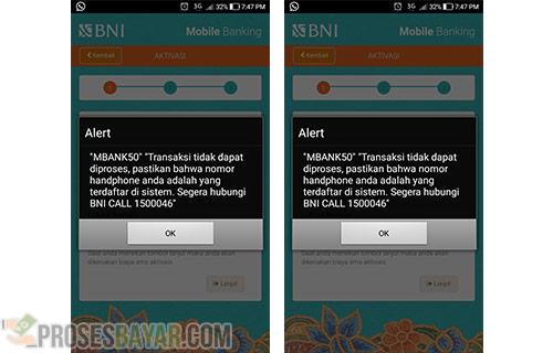 Penyebab Error MBANK50 BNI Mobile