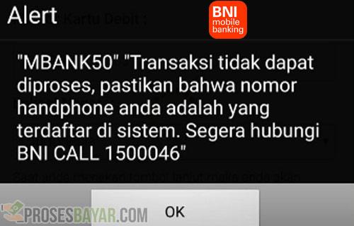 Penyebab dan Cara Mengatasi BNI Mobile Error MBANK50