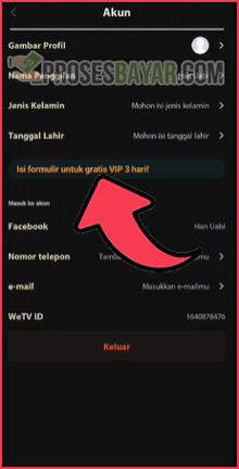 5 KlikIsi Formulir Untuk Gratis VIP 3 Hari