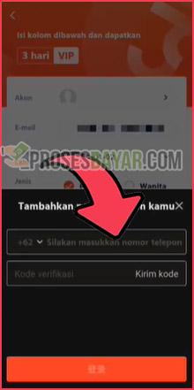 9 Masukan Nomor HP dan Kode OTP