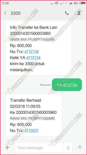 Bayar dengan SMS Banking BRI