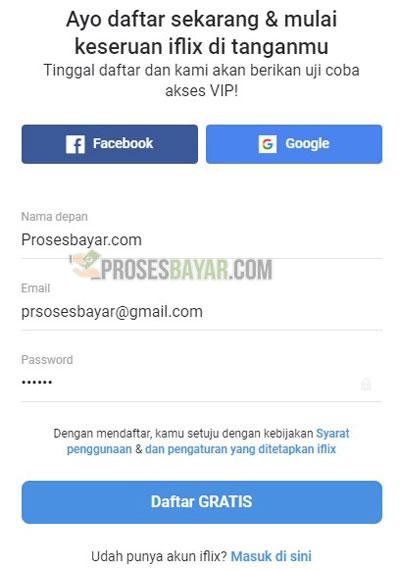 Masukan Nama Email dan Password
