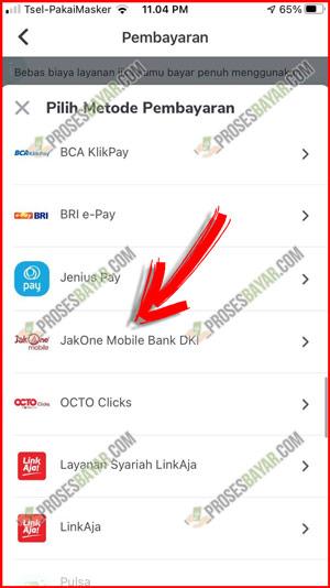 Pilih Pembayaran JakOne Mobile