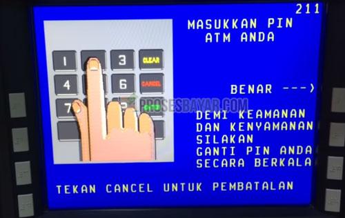 3 Masukan PIN ATM BNI