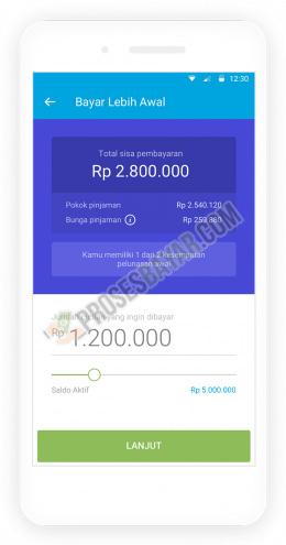 Masukan Jumlah Pembayaran Sesuai Sisa Tagihan