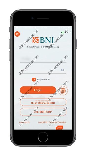 2 Masuk ke Akun BNI Mobile