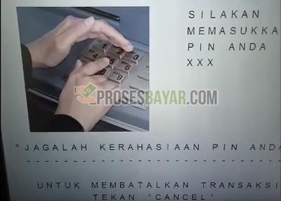 2 Masukan PIN ATM BCA 1