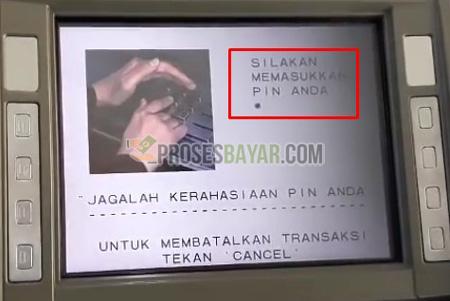 2 Masukan PIN ATM BCA
