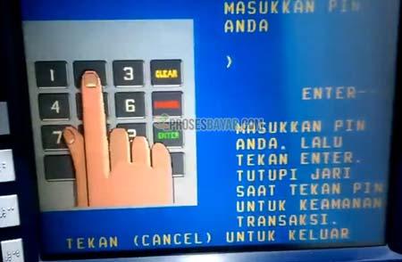 2 Masukan PIN ATM Mandiri