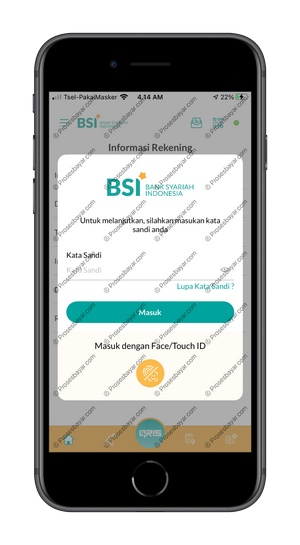 4 Masukan Password BSI Mobile