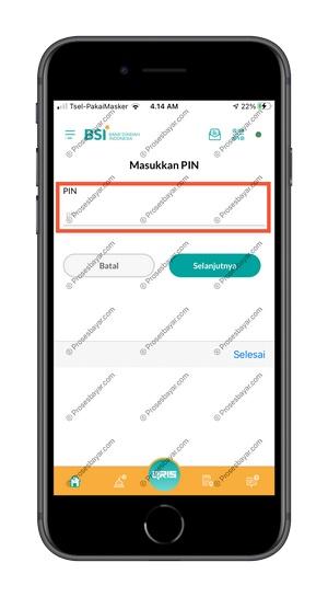 5 Input PIN BSI Mobile