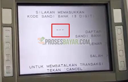 7 Masukan Kode Bank BRI