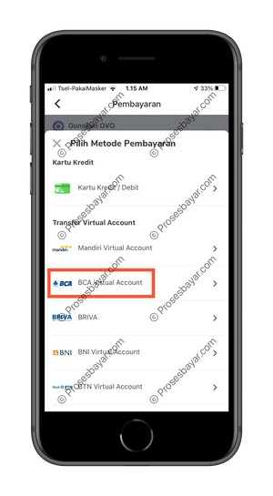 Pilih BCA Virtual Account