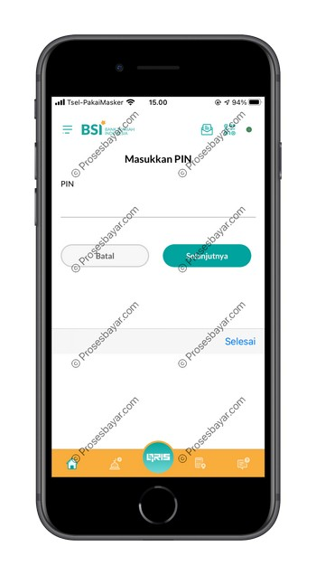 15 Masukan PIN BSI Mobile