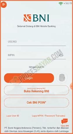 2 Login Ke Akun BNI Mobile