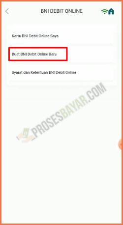 4 Buat BNI Debit Online Baru