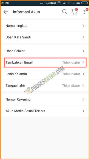 5 Pilih Tambahkan Email