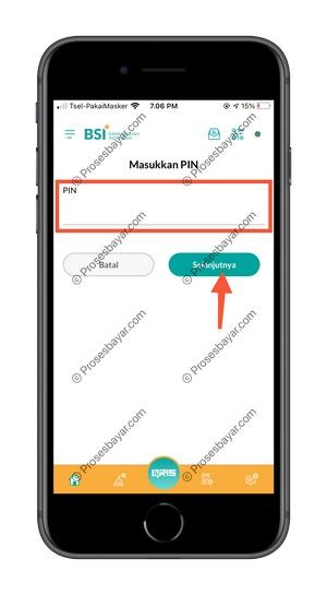 8 Masukan PIN BSI Mobile