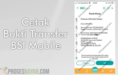 Cetak Bukti Transfer BSI Mobile