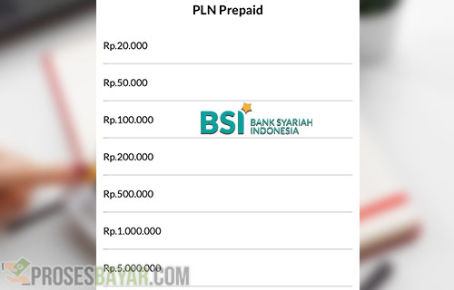 Minimal Token Listrik BSI Mobile