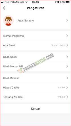 4 Tap Ubah Email