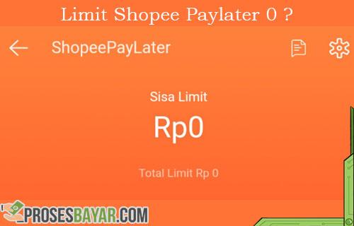 Penyebab dan Cara Mengatasi Limit Shopee Paylater 0