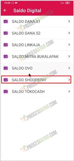 17 Pilih Saldo ShopeePay