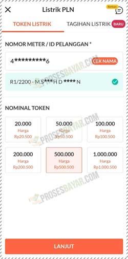 5 Pilih Nominal Token