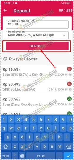 6 Pilih Deposit