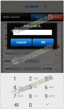 9 Masukan PIN BCA Mobile Untuk Menghapus Mutasi