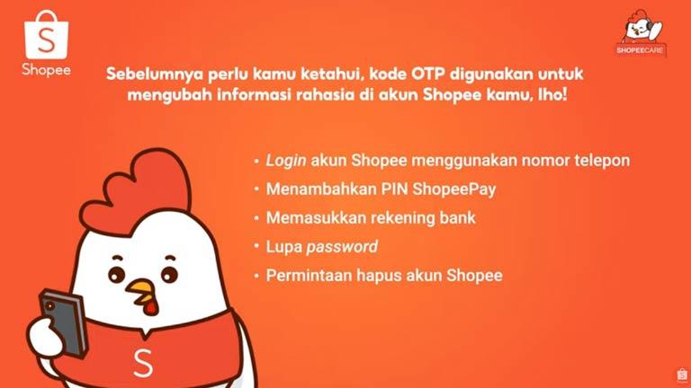 Fungsi Kode OTP Shopee