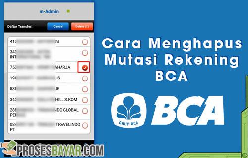 Tutorial Cara Menghapus Mutasi Rekening BCA Lewat BCA Mobille Klik BCA
