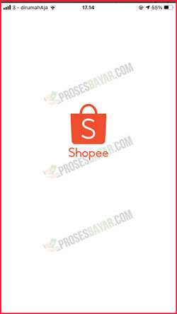 1 Masuk Aplikasi Shopee