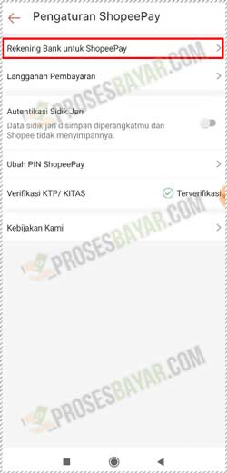 4 Pilih Rekening Bank Untuk ShopeePay