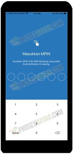 5 Masukkan MPIN Mandiri Online MPM