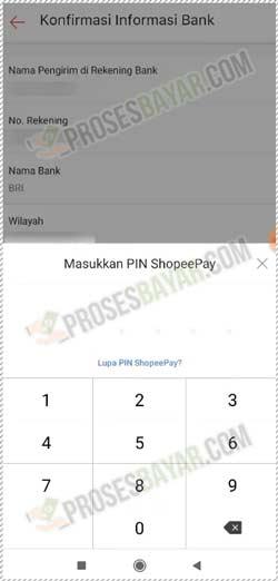9 Masukkan PIN ShopeePay