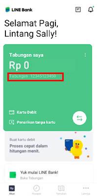Cara Isi Ulang Saldo Line Bank via Jenius