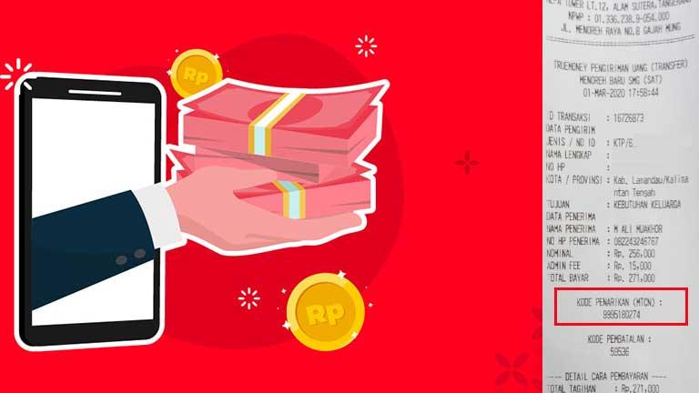 Contoh Kode Penarikan Uang di Alfamart