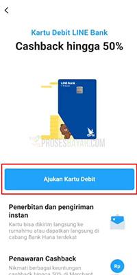 Membuat Kartu Line Bank