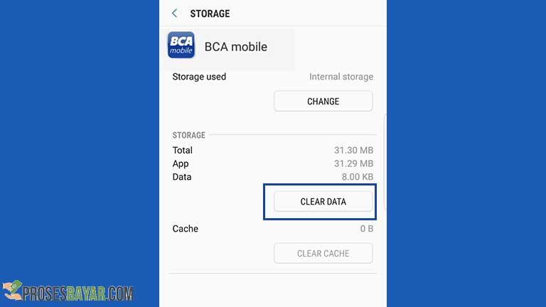 Menghapus Data BCA Mobile