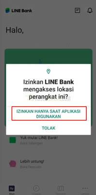 cara membuat line bank
