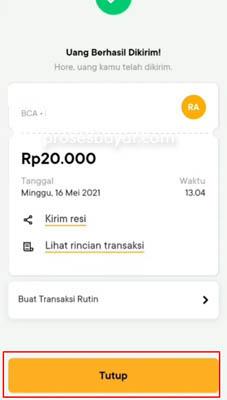 cara mengirim uang Bank Jago