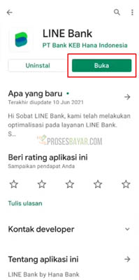 line bank card
