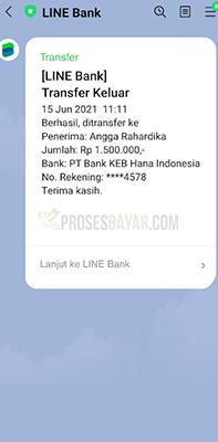 transaksi line bank
