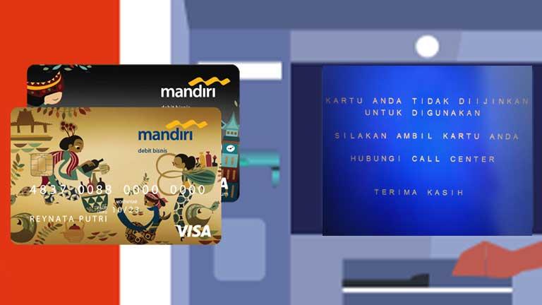 Kartu ATM Mandiri Tidak Diizinkan