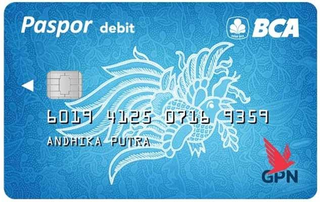 Kartu ATM Paspor BCA GPN Blue