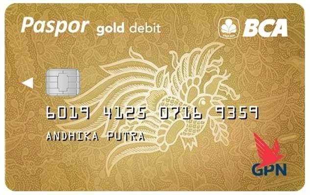 Kartu ATM Paspor BCA GPN Gold