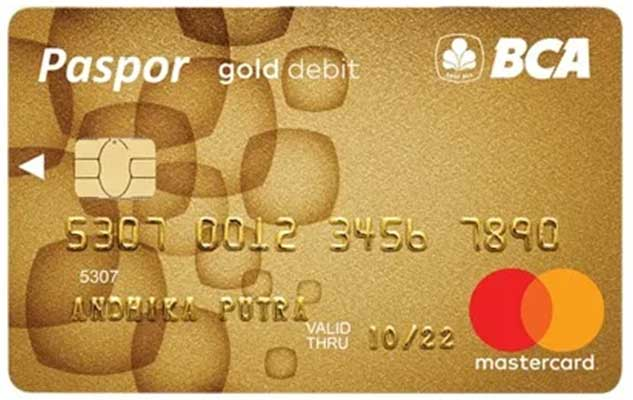 Kartu ATM Paspor BCA Gold